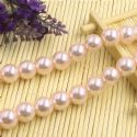Beads, Glass Imitation pearls, Glass, Light pink , Round shape, Diameter 12mm, 7 Beads, [FZZ0065]